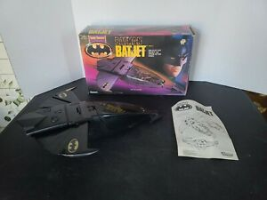 Vintage 1990 Batman Batjet Plane The Dark Knight Vehicle Collection Kenner WORKS