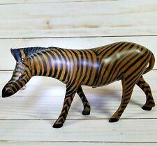 Wooden 8 inch long Zebra from Kenya