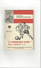 Inter Milan v Real Madrid European Cup Final Football Programme + Insert 1964