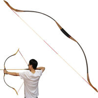 """30-50lbs 54"""" Archery Hunting Traditional Both Hand Recurve Bow Shooting Longbow"""