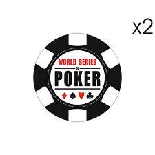 Stickers plastifiés POKER - Harley Las Vegas - Pique As Trèfle - 6cm x 6cm