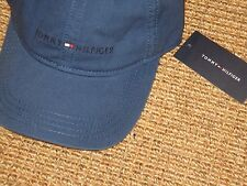 TOMMY  HILFIGER  BASEBALL CAP  MEN'S FLAG  SIGNATURE LOGO BLUE ADJUSTABLE  NEW