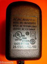 U075020A12V 26-175020-1Ul-100 Class 2 Power Supply Ac/Ac Adapter 7.5 V 200 mA