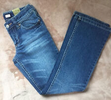 Girls Old Navy Brand Blue Boot-Cut Low -Rise Stretch Jeans 8 New