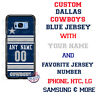 DALLAS COWBOYS FOOTBALL PHONE CASE COVER WITH NAME & NUMBER FOR iPHONE SAMSUNG