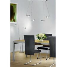 Lámpara Led de Techo Ajustable 4 Lámparas Reflector Mesa Comedor Colgante Bling