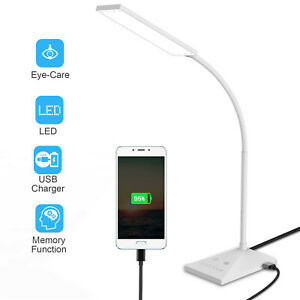 72 LED Desk Lamp 5 Modes Adjustable Night Light USB Port Touch Home Table Lamp