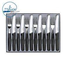 Victorinox Black Cutlery Set 12 Piece - Gift Boxed 6.7832.12