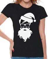 Hipster Santa Shirt Women's Ugly Christmas T Shirt Christmas Gifts for Her