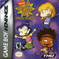 All Grown Up Express Yourself - Game Boy Advance Gba