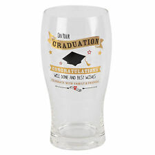 Vintage Signography Graduation Beer Glass Gift Boxed