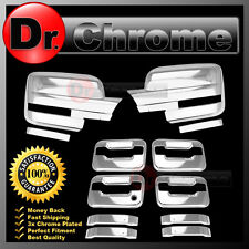 09-14 Ford F150 Chrome Mirror+4 Door Handle+no keypad+no PSG keyhole Cover COMBO