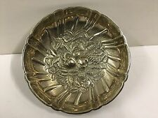 Kirk & Son Repousse Fruit Sterling Silver Footed Bonbon Candy Bowl Dish