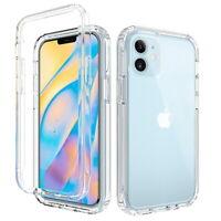 Funda Transparente Suave Prueba Golpes Doble Capa Para iPhone 12 Pro Max 11 XR X
