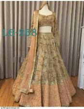 Orgenza Lehenga Choli Indian Ethnic Party Wear Lengha Chunri Ghagra Skirt  Dress
