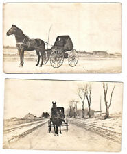 Horse & Buggy / Carriage Photograph. Beloit Wisconsin 1900's