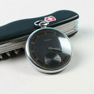 Very Rare Black Dial MOLNIJA USSR Pocket Watch 3 1955