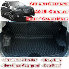 Tailor Made PU Leather Boot Liner Cargo Mat Cover for Subaru Outback 2015 - 2019