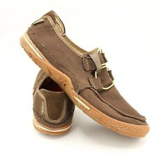 Cushe Surf Canvas Comfort Brown Loafers Shoes Men's US 13