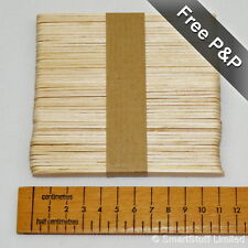 Wooden Lolly / Lollipop Sticks for Crafts & Model Making Hobbies - Quantity 50