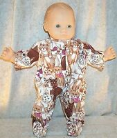 "Doll Clothes Baby Made 2 Fit American Girl 15"" inch Bitty Twin Pajamas Cat"