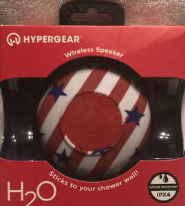 HyperGear - H2O Water Resistant Wireless Speaker w/ Suction Cup Attachment