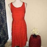 Eva Franco Anthropologie Tangelo Ruffle Dress sz 10