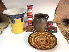 Antique Redware Pottery Stoneware Batter Pitcher Slip Glaze 1880s Rare