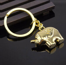 Mirror Polished Gold PL 3D Cute Elephant Keyring Keychain Men/Women Novelty Gift