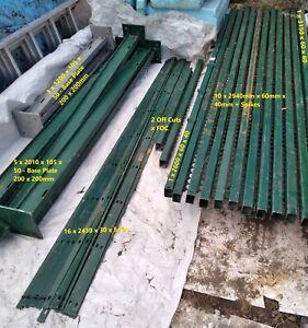 Palisade Security Metal Railing Fence Fencing Posts Industrial Unit Workshop