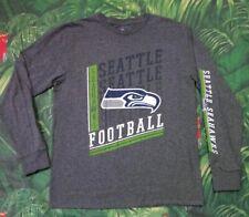 Seattle Seahawks Logo Football Long Sleeve T Shirt Size Medium