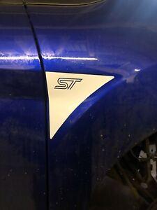 Pair Fiesta MK7 MK7.5 Vinyl Wing Decal S ZS Zetec S  ST Ecoboost Custom Made