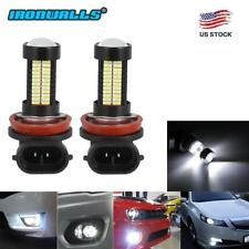 IRONWALLS H11 H8 H9 100W LED Fog Light Bulb Car Driving Lamp DRL 6000K HID White