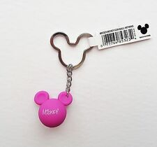 Disney - Mickey Mouse - Red Violet Mickey Head Ears Icon Ball Keychain/Keyring