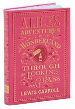 ALICE IN WONDERLAND & THROUGH THE LOOKING GLASS ~ LEATHER BOUND CLASSIC ~ ILLUS