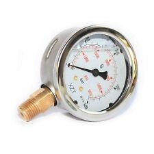63mm-0-400BAR/6000PSI(NPT1/4) Hydraulic Pressure Gauge Base Entry