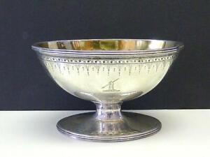 1788 William Plummer Sterling Silver Sugar Bowl ARM ARROW Crest London UK