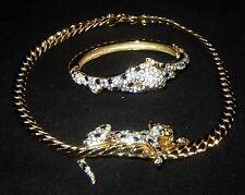 Vintage CARTIER Replica Costume Jewelry LEOPARD Necklace & Bracelet
