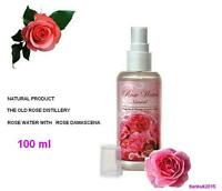 PURE ROSE WATER Spray Toner Cleanser 100% Natural Bulgarian rose 100 ml