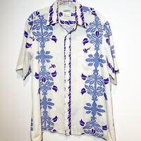 """Starsuit Vintage Style Swim Trunks /""""Blue Hawaiian/"""" Blue Plaid"""