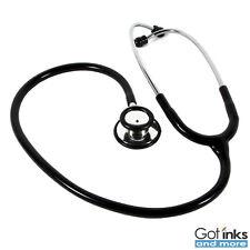 Dual Head Ultra Sensitive Non-Chill Rim Latex Free Black Stethoscope