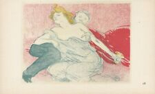 Henri Toulouse Lautrec (1864-1901) signed small Lithograph Plate 18