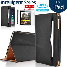 iPad 2/iPad 3 4 Soft Leather Wallet Smart Case Sleep/Wake Stand Cover Screen Fil