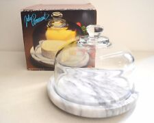 GOODWOOD Marble Cheese Tray w/ Glass Dome #9142 by JULIE POMERANTZ