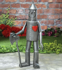Steadfast Tin Woodsman Garden Sculpture, Décor Tin Man Yard Art, Garden Statue