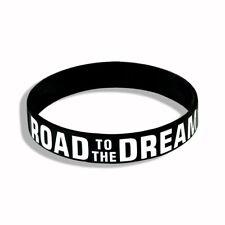 Motivation bracelet Silicone Rubber Elastic White lettering on black for Winner