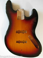 J Bass body style cuerpo us red Alder roterle 3 tone sunburst replacementbody