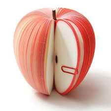 3D Fruit Apple Shaped Memo Note Pad(150-Page) Writing Stationary Post Party Gift