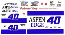 #40 Sterling Marlin ASPEN EDGE 1/32nd Scale Slot Car Waterslide Decals