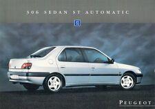 Peugeot 306 berline 2.0 st automatique 1995 marché du royaume-uni notice sales brochure